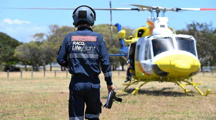RACQ LifeFlight Rescue Bundaberg conducted vital training off the Burnett Heads coastline.