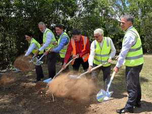 TIMBER TURNING POINT: Sod turned for new M'boro plant