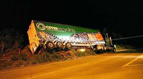 Truck crash at the roundabout in 2010.