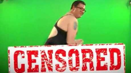 A screenshot from George Christensen's video threat to sing Beyonce's All the Single Ladies.