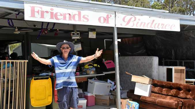BARGAINS GALORE: Friends of Bindaree President Andrew Bannerman has been busy collecting donations since Christmas.