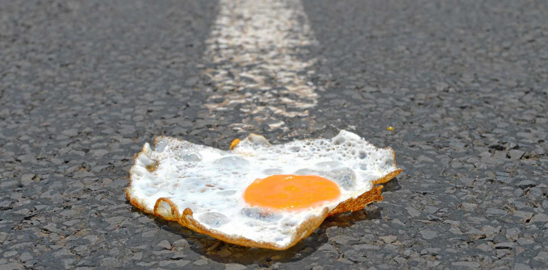 EGG-TREME HEAT: A low-intensity heatwave is rippling through Warwick.