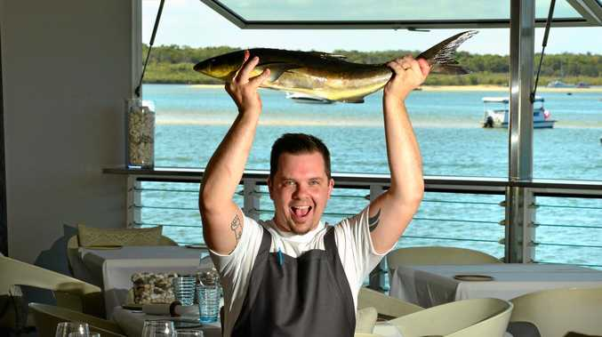 Executive Chef at Ricky's in Noosa Joshua Smallwood celebrates the culinary honour of retaining its Chefs Hat in the Australian Good Food Guide awards.