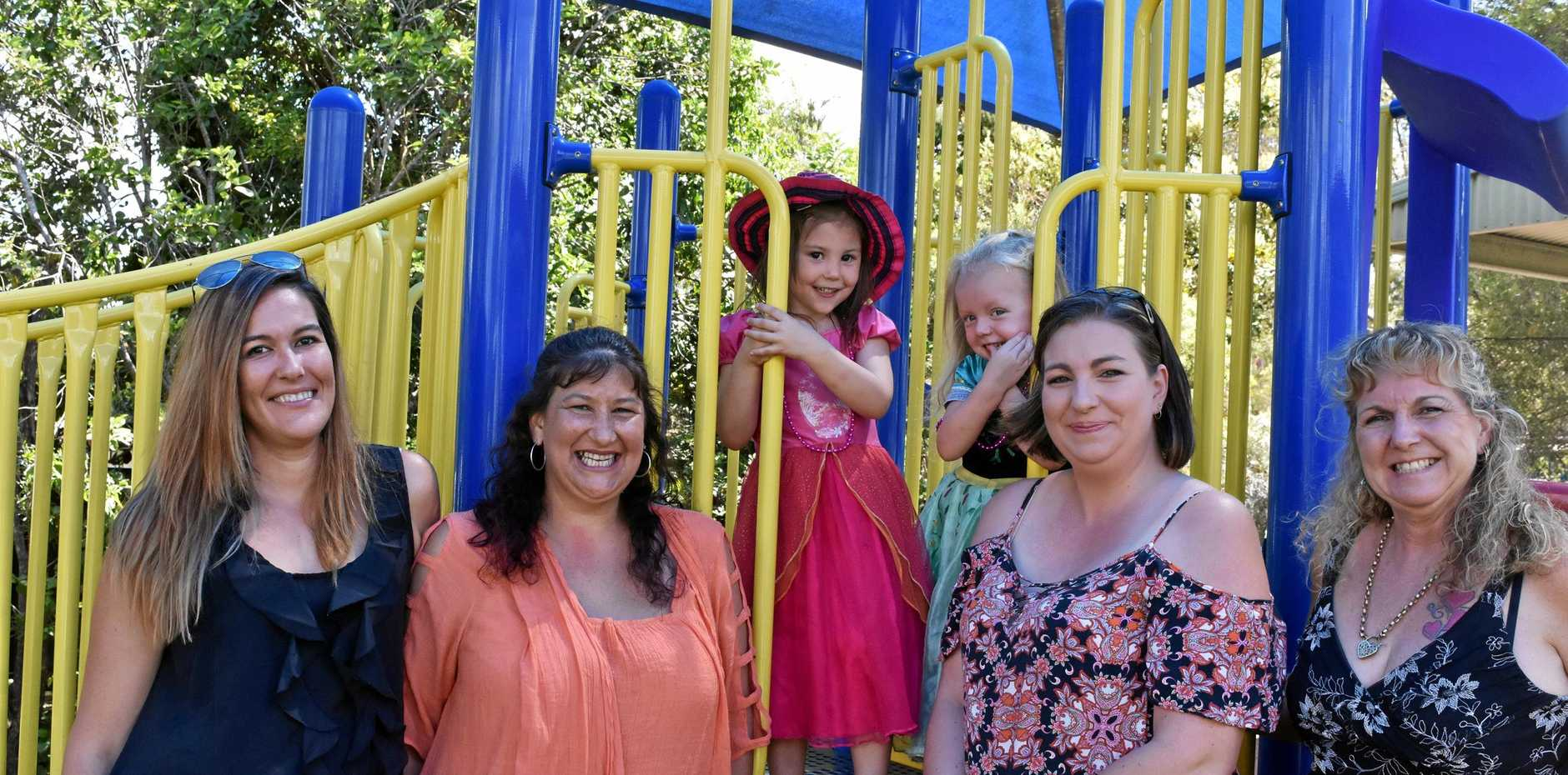 Members of the Gunalda and District Kindergarten Association Inc committee and friends are keen to see involvement from the community grow. From left Rebecca Tweedale (playgroup co-ordinator), Bronwyn McDowell (teacher), Leura Tweedale, Chloe Hawksfield, Donna Hawksfield (VP) and Mandee (Samantha) Harvey (President).