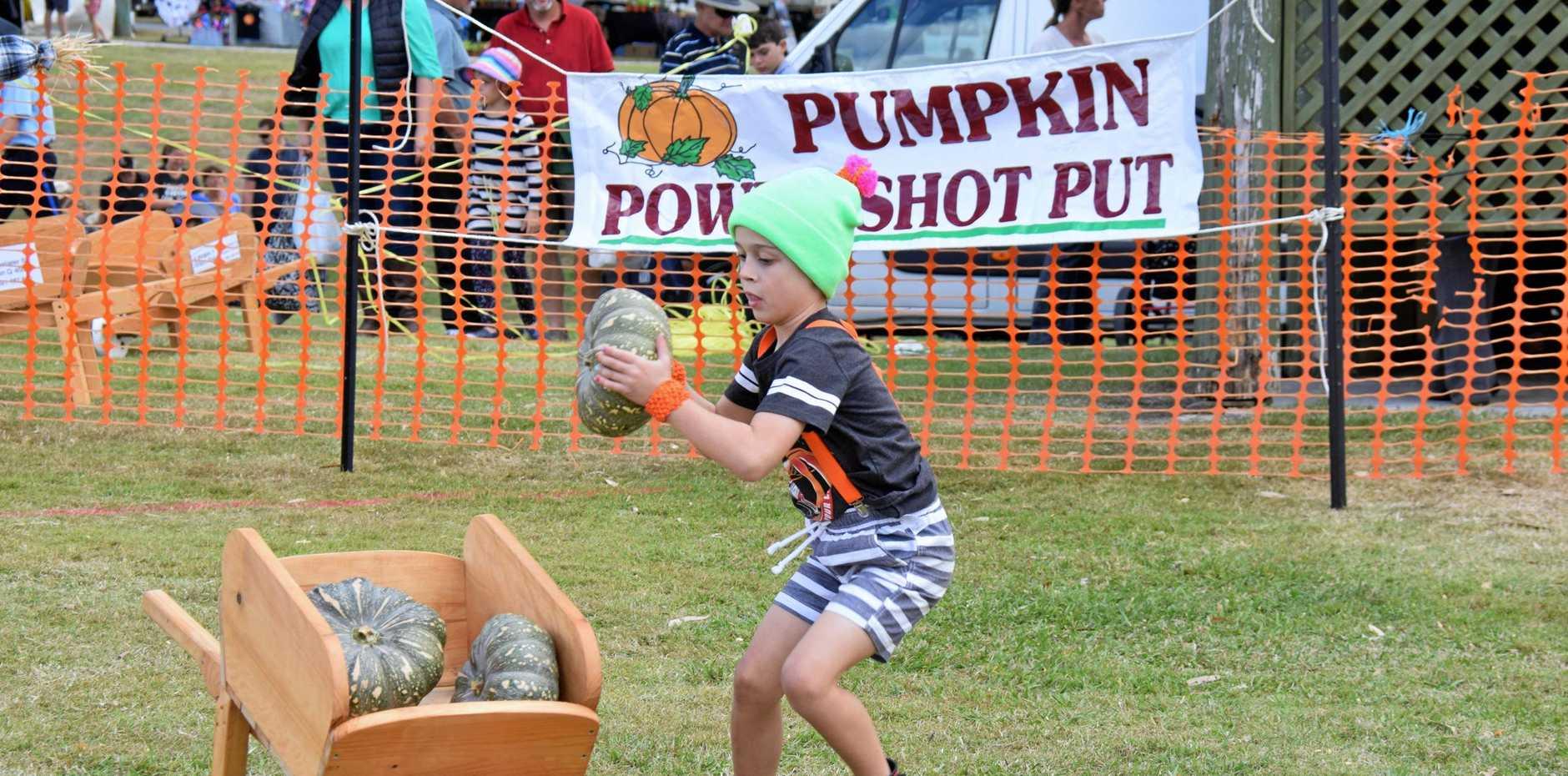 Nicolas Freeman on the Pumpkin Pathc Dash at the Goomeri Pumpkin Festival last year.