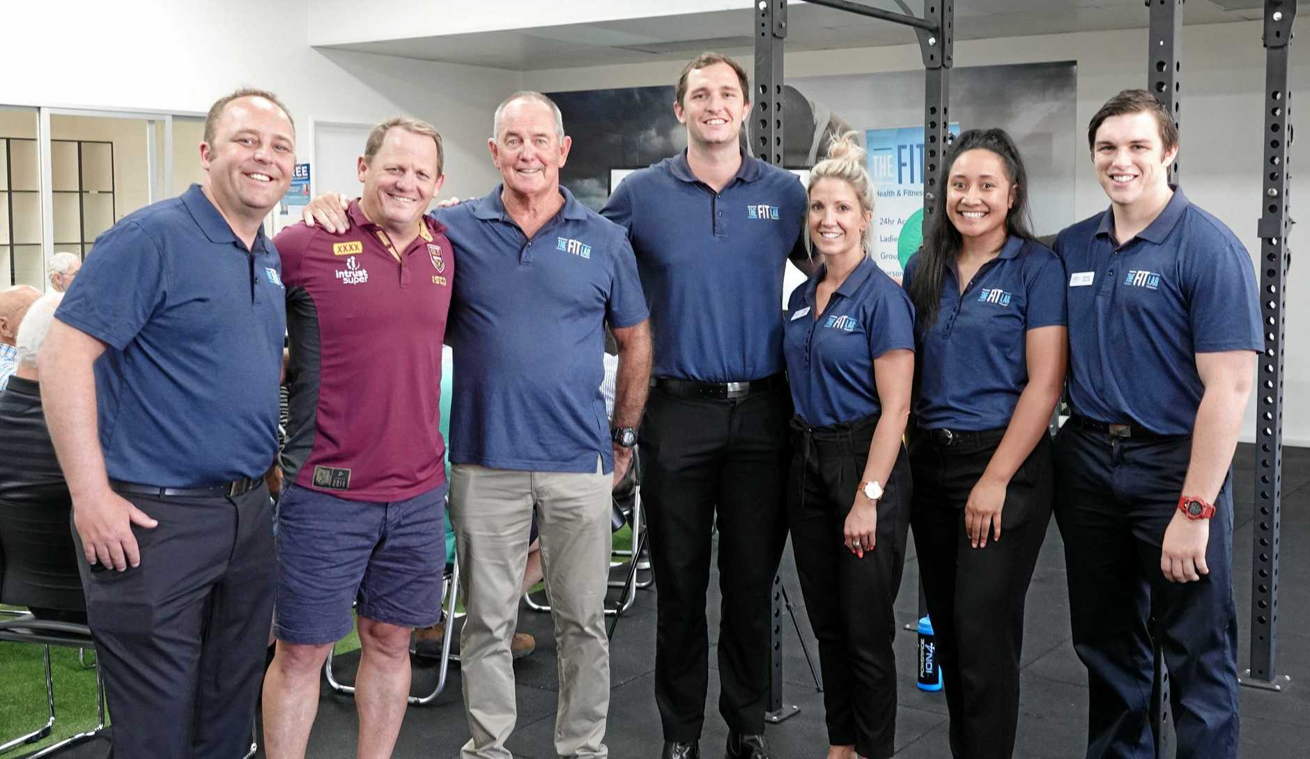 GOOD CAUSE: Helping in the fight against prostate cancer are (from left) Steve Hillman, Kevin Walters, Steve Nance, Corey Wolski, Tammy Sloan, Caroline Tupou and Blake Cullen.