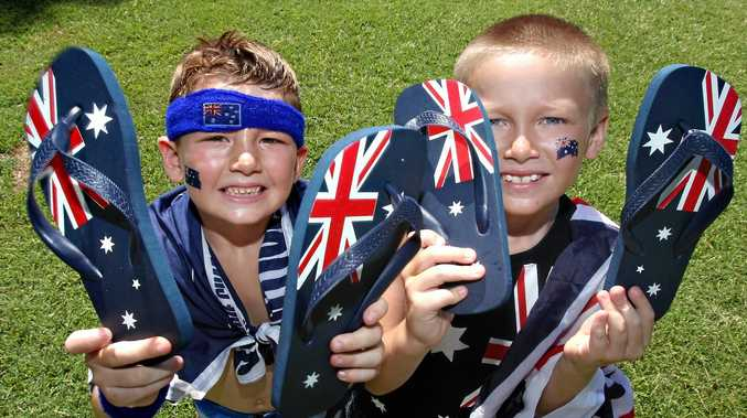 Aussie traditions in Nanango on Australia Day