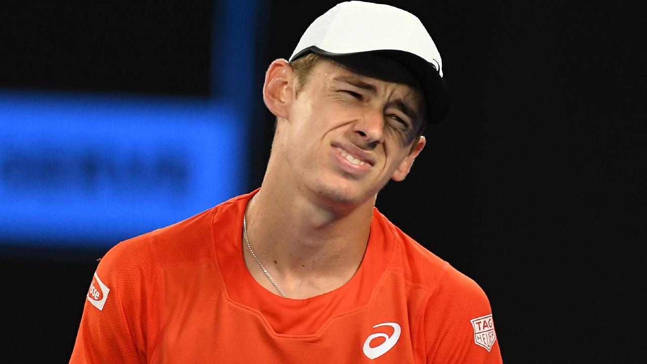 Alex de Minaur is out of the Australian Open. Picture: AAP Images