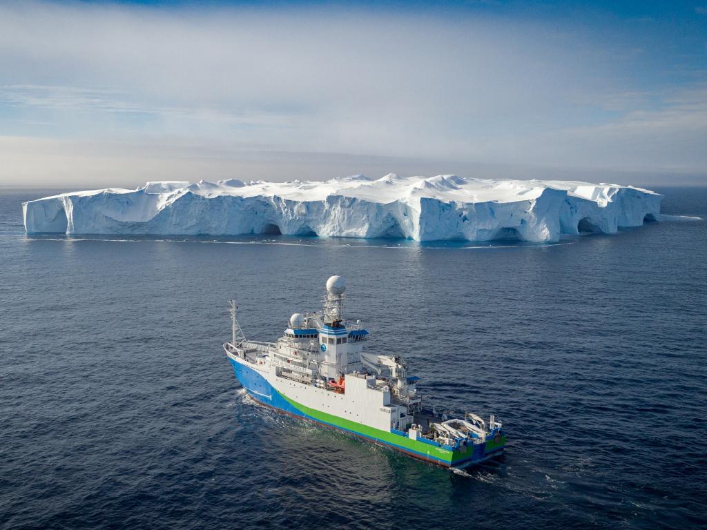 RV Investigator in Antarctica. Picture: CSIRO Marine National Facility