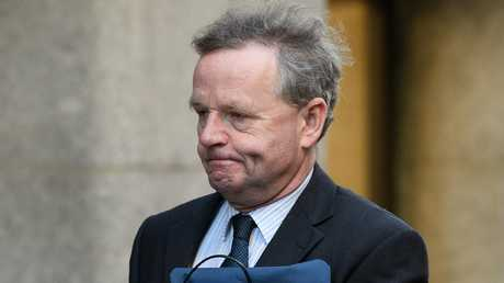 Pilot Andy Hill arrives in London at his trial for manslaughter by gross negligence. Picture: Leon Neal/Getty Images