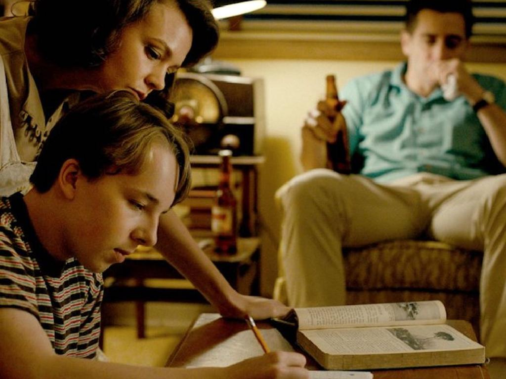 Carey Mulligan, Ed Oxenbould and Jake Gyllenhaal in Paul Dano's directorial debut, Wildlife. Picture: Supplied