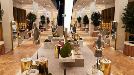 David Jones is hoping its 'shoe heaven' floor at its flagship Sydney store will bring in foot traffic.