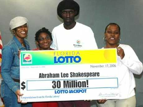 Abraham Shakespeare's huge win made him a target for a cruel scammer. Picture: Supplied