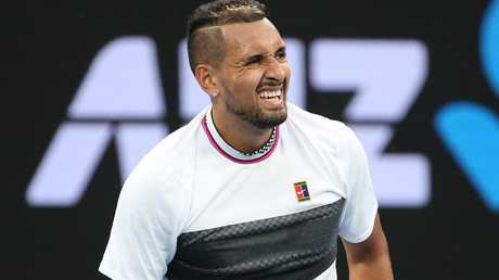 Nick Kyrgios fell early in the Australian Open. Picture: Michael Klein