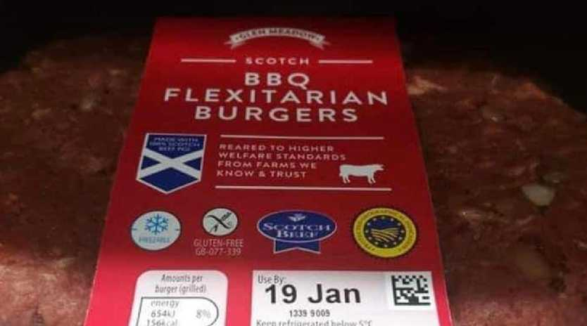 This flexiburger has left one vegan outraged.