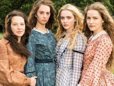 The cast of Little Women includes Maya Hawke, Willa Fitzgerald, Annes Elwy, Kathryn Newton