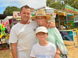 Mark, Charlotte and Kye Harrison at the Fire in the