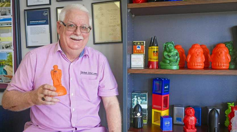 OUT OF THE BOX: John Whitten from Individual Home Loans has been collecting money boxes, model cars and Rugby League memorabilia for over 40 years.