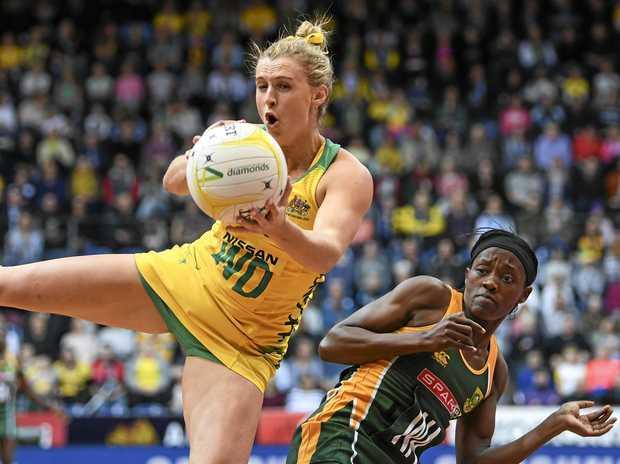 Gabi Simpson looks like missing both Tests in London. Picture: Lukas Coch/AAP