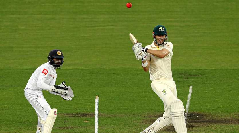Kurtis Patterson hits out against Sr Lanka at Hobart's Blundstone Arena.  Picture: Robert Cianflone/Getty Images