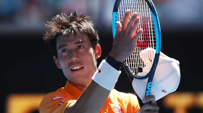 Kei Nishikori reaches Australian Open third round after five-set thriller