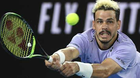 Australia's Alex Bolt makes displayed a first-rate array of groundstrokes.
