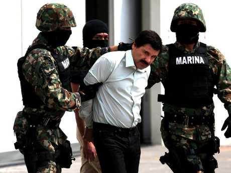 Navy soldiers escort Joaquin