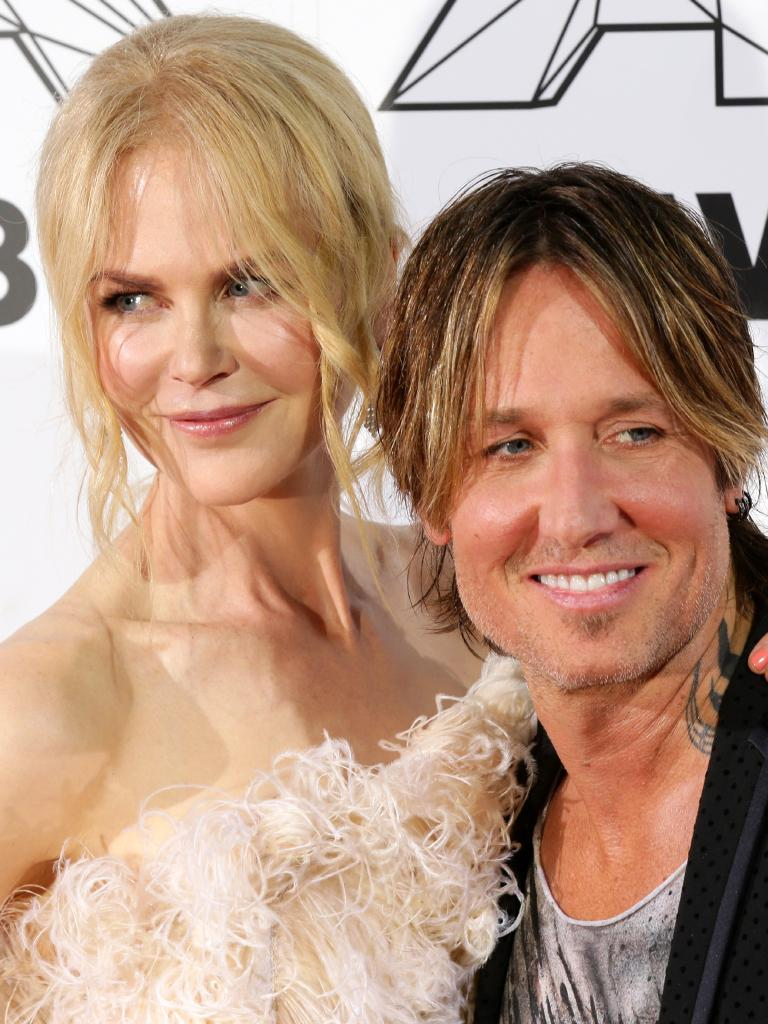 Keith Urban with wife Nicole Kidman at the 2018 Aria Awards held at The Star. Picture: Jonathan Ng