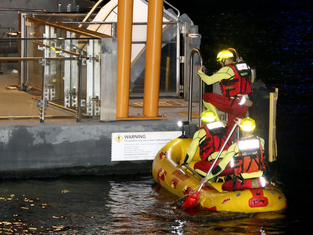 The search continued overnight. Picture: AAP/David Clark