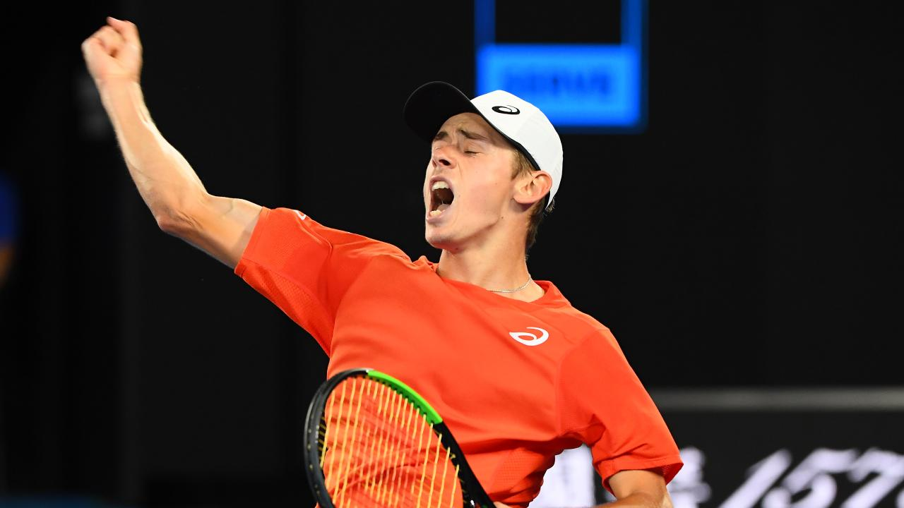 Alex de Minaur will play the second singles against Bosnia. Picture: Getty Images