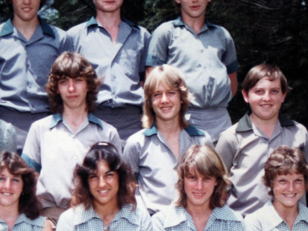Keith Urban (middle row centre) from his class photo in year 10 at Caboolture High School.