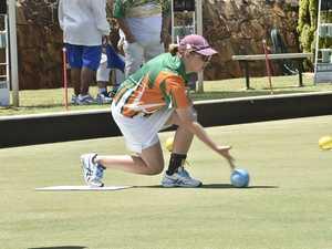Julie Allen-Best in action with the DDLBA team. Bowls
