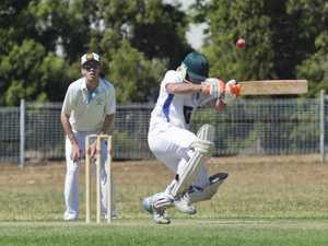 Rick Smith bats for Uni. TCI A grade cricket, Wests