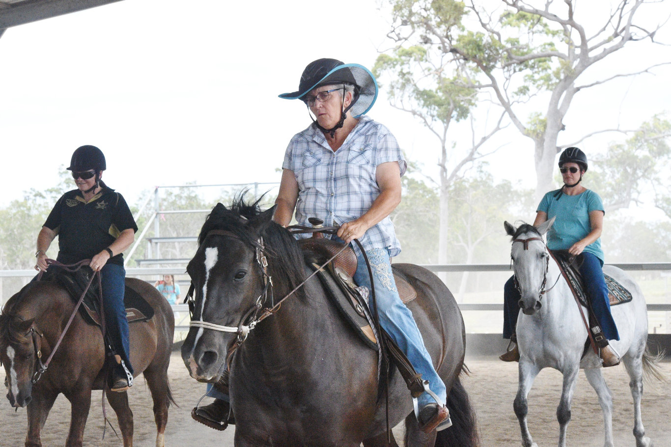Day clinic with Johnie Clem at the Hervey Bay Equestrian Centre - Helen Haddon.
