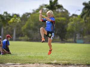 Quade Baker - U8 long jump.