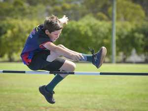 Deacon Pomeroy - U11 high jump.