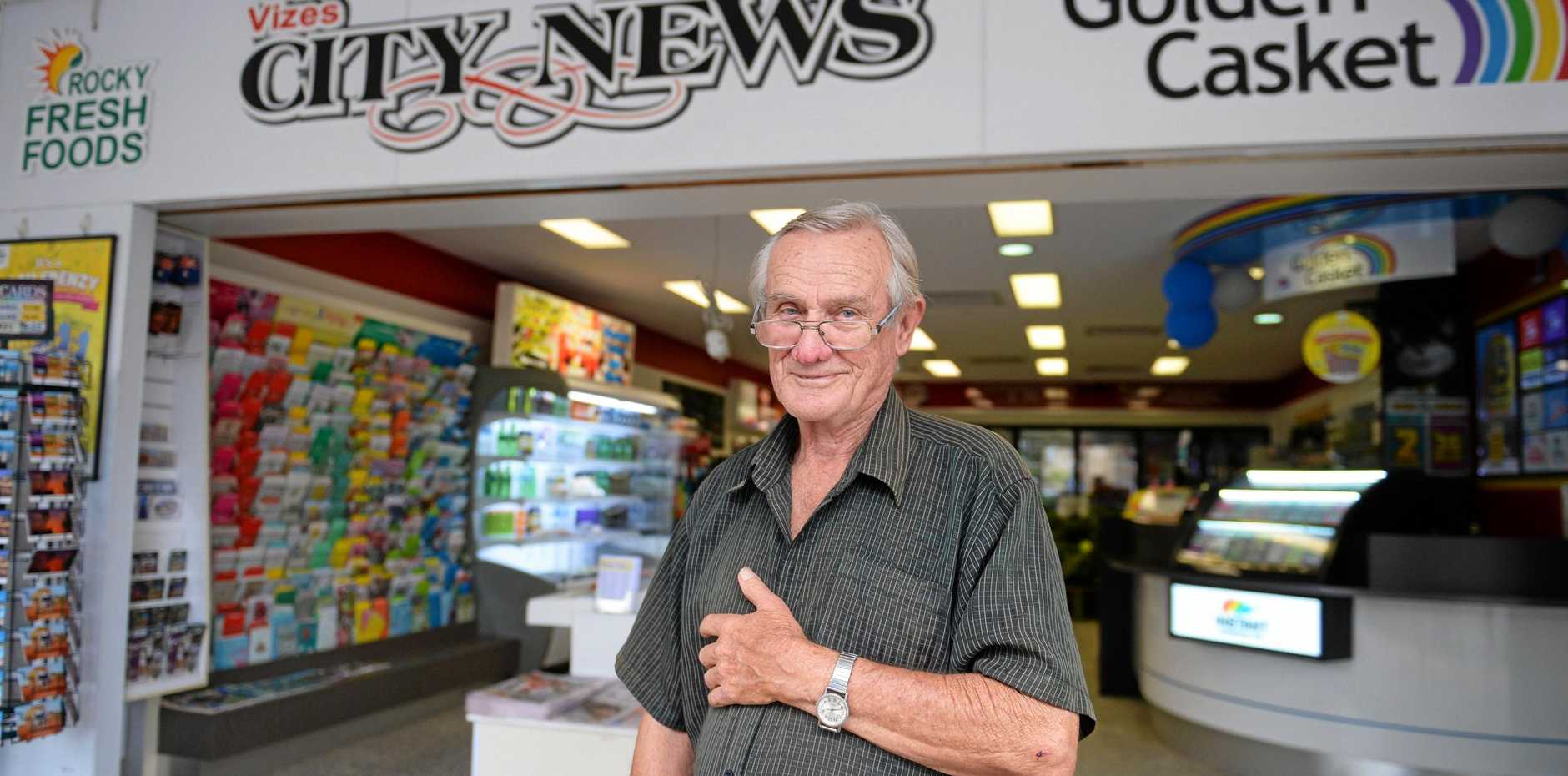 TIME TO RETIRE: Bevan Proposch is ready to sell his East St business.