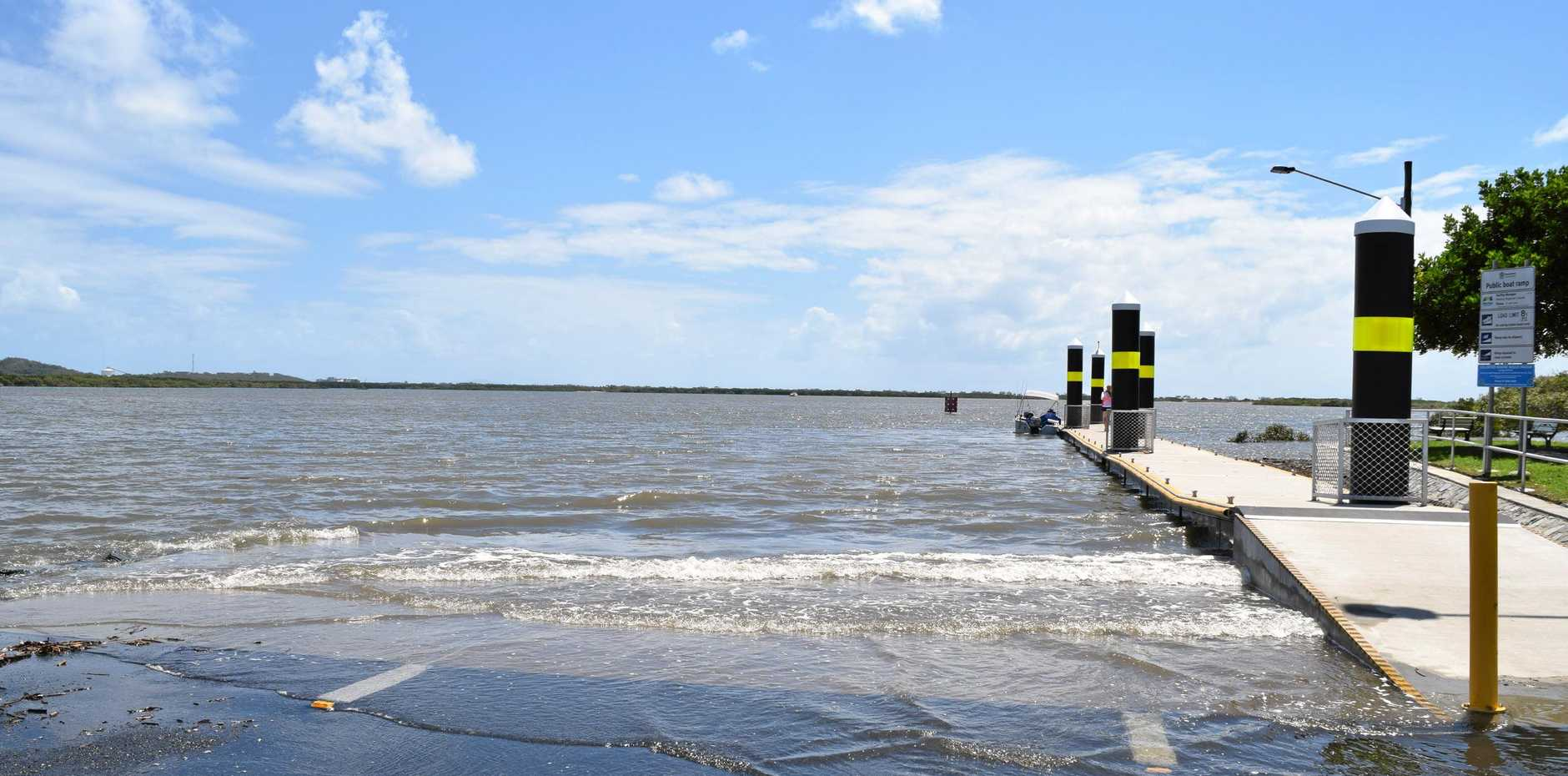 The Pioneer River submerged the River Street boat ramp during a high tide of 6.29m on Sunday, January 20 at 10:11am.