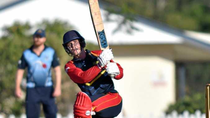 Sunshine Coast Scorchers against Valley in the T20 semifinal.Scorchers batsman Josh Matthews.