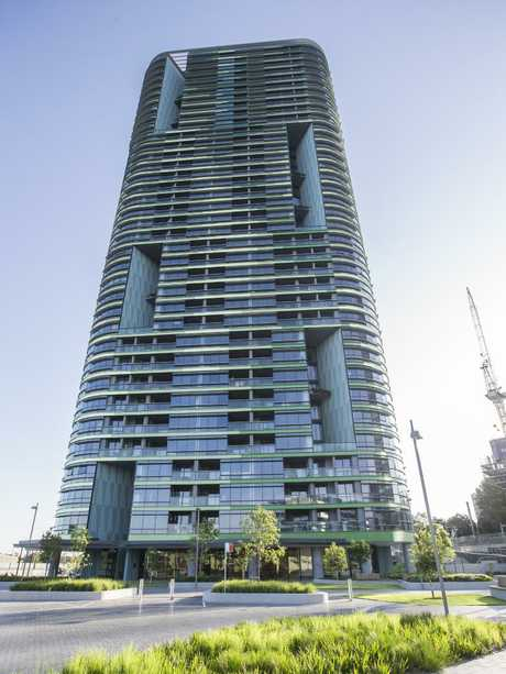 The Opal Tower in Sydney Olympic Park. Picture: Dylan Robinson