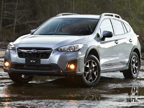 Subaru XV: Roomy cabin … for two, and with rear seat folded to take luggage
