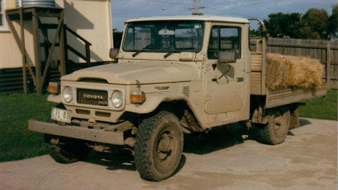 The Toyota LandCruiser had crucial evidence about the events of the night that Beth Barnard died. Picture: HWT Library
