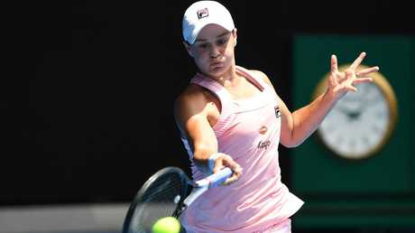 Barty fought back from a set down to defeat Maria Sharapova. (AAP Image/Julian Smith)
