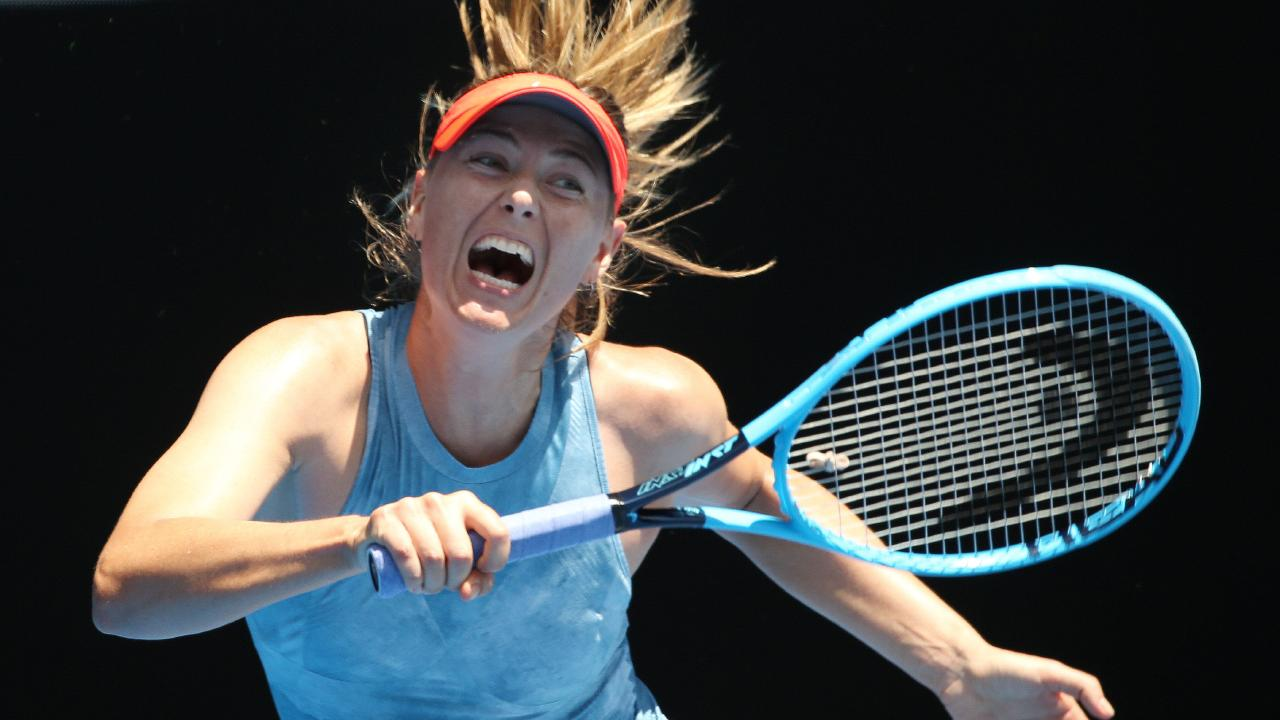 Maria Sharapova at the Australian Open. Pic: Michael Klein