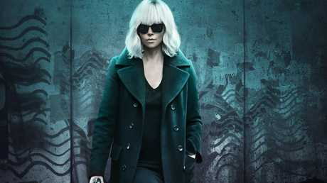 Theron in publicity for the film Atomic Blonde.
