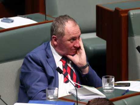 Barnaby Joyce during Question Time in the House of Representatives last December. Picture: Gary Ramage.