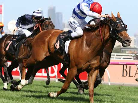 Regan Bayliss and Redkirk Warrior combine to win the Black Caviar Lightning last year.