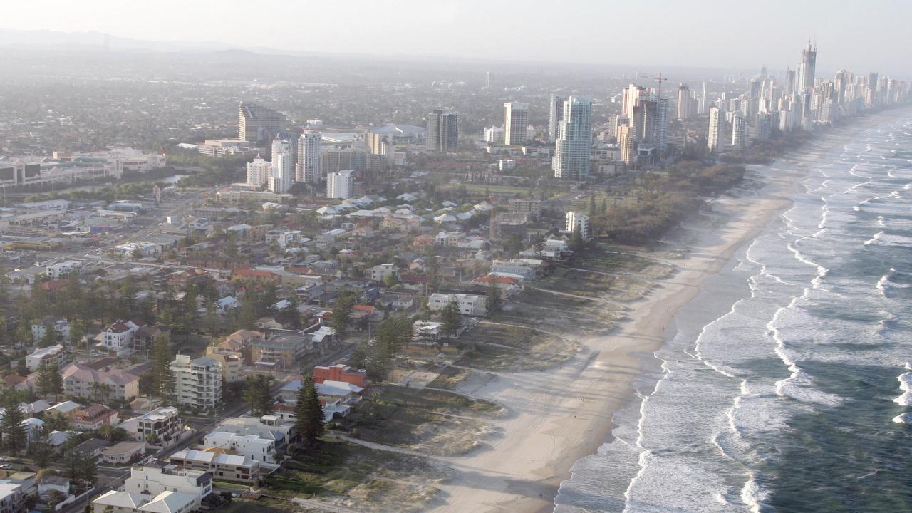 File photo: Aerial photo of Mermaid Beach to Surfers Paradise on the Gold Coast. Photo: David Clark