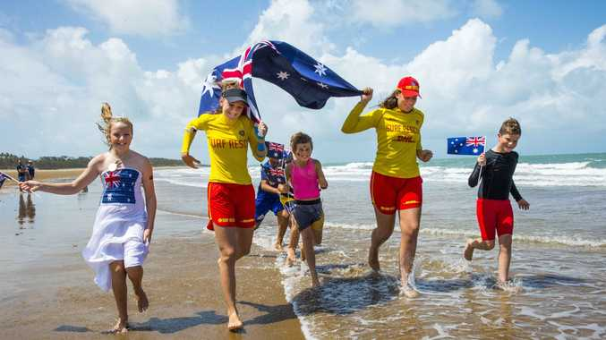 There was plenty of Australia Day colour at Sarina Beach last year. A host of beach parties will be held throughout the region for Australia Day this Saturday, including a new one at Lamberts Beach.