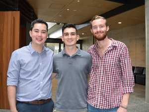 From left: Tim Mcerlane, Josh Gee and Sam McGill were